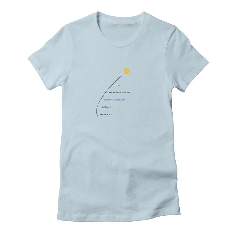Swoosh Women's Fitted T-Shirt by reddingmeditation's Artist Shop