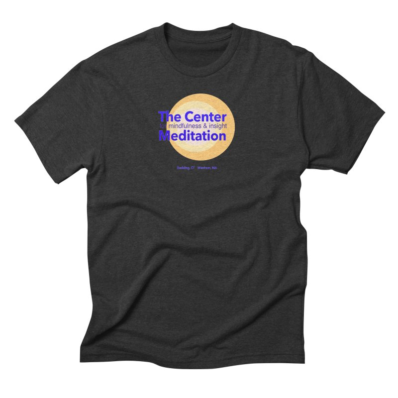 Centered Men's Triblend T-Shirt by Redding Meditation's Artist Shop