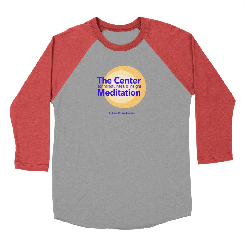 Centered Men's Baseball Triblend T-Shirt by reddingmeditation's Artist Shop