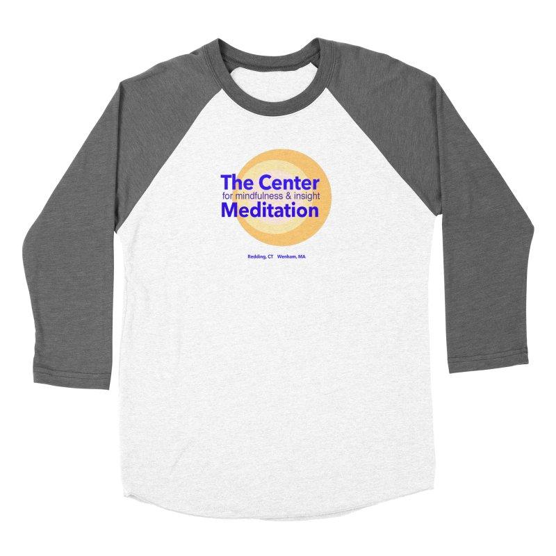 Centered Men's Baseball Triblend T-Shirt by reddingmeditation's Artist Shop