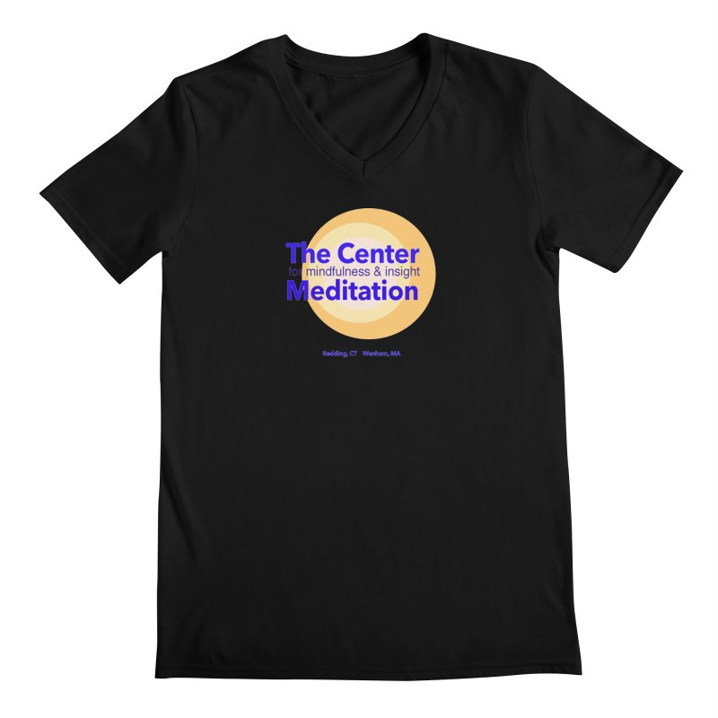 Centered Men's V-Neck by reddingmeditation's Artist Shop