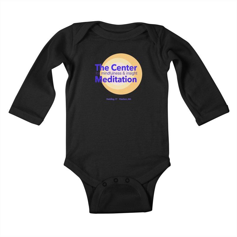 Centered Kids Baby Longsleeve Bodysuit by reddingmeditation's Artist Shop