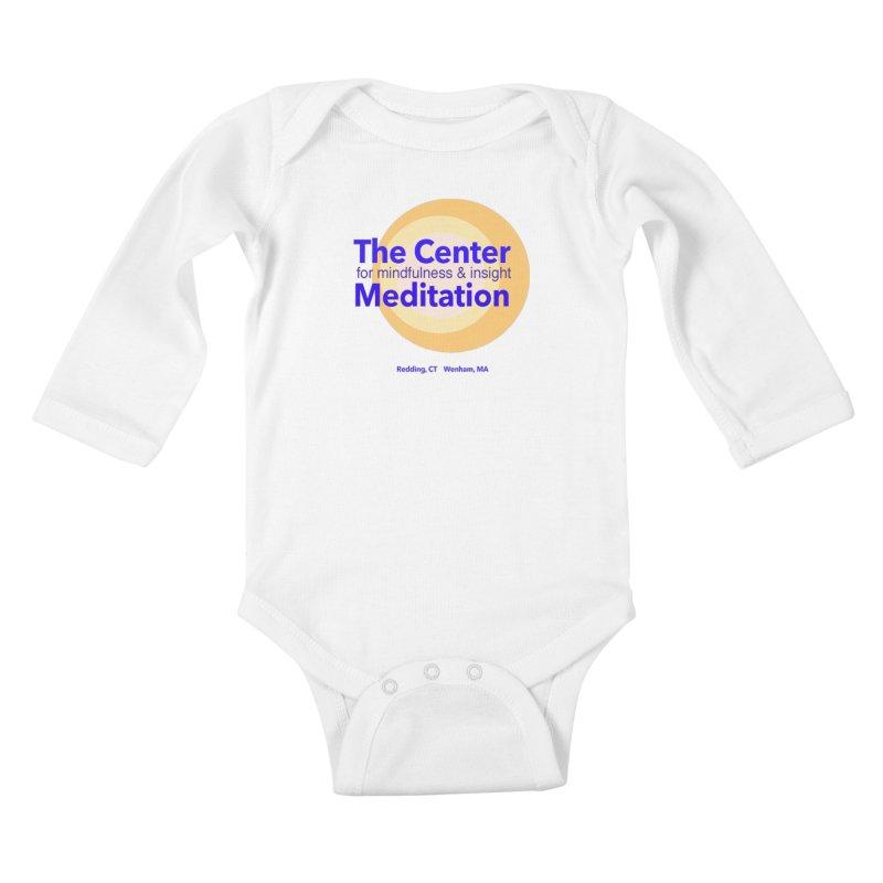 Centered Kids Baby Longsleeve Bodysuit by Redding Meditation's Artist Shop