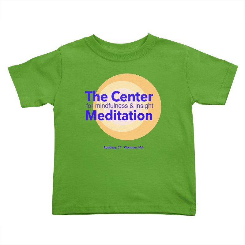 Centered Kids Toddler T-Shirt by reddingmeditation's Artist Shop