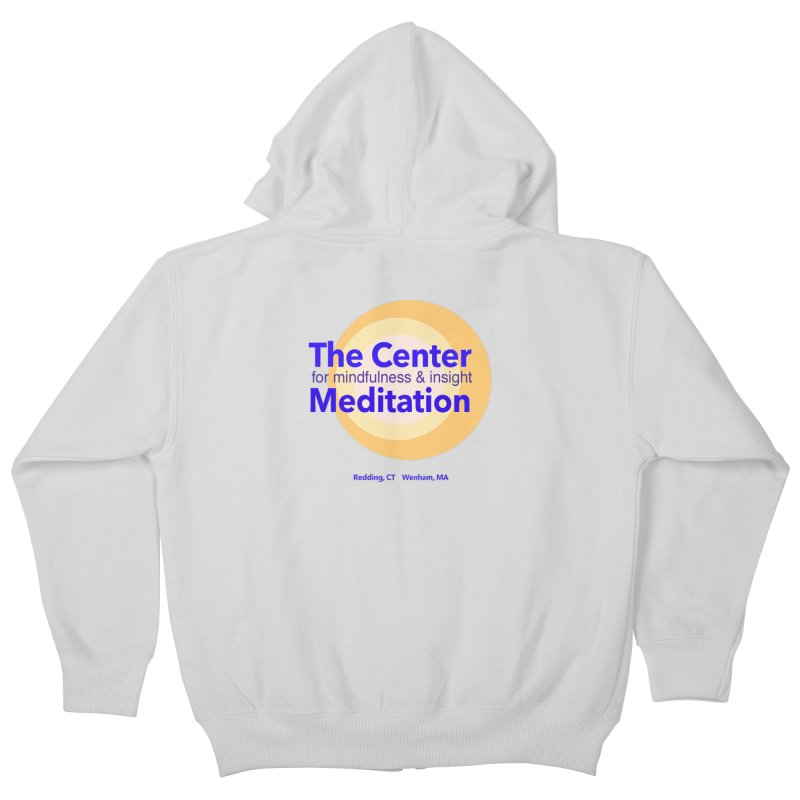 Centered Kids Zip-Up Hoody by reddingmeditation's Artist Shop