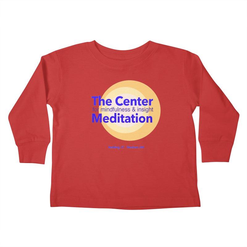 Centered Kids Toddler Longsleeve T-Shirt by reddingmeditation's Artist Shop
