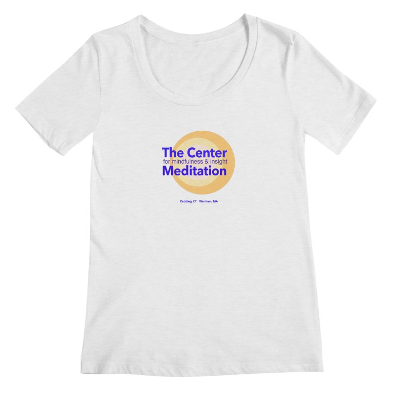 Centered Women's Scoopneck by reddingmeditation's Artist Shop