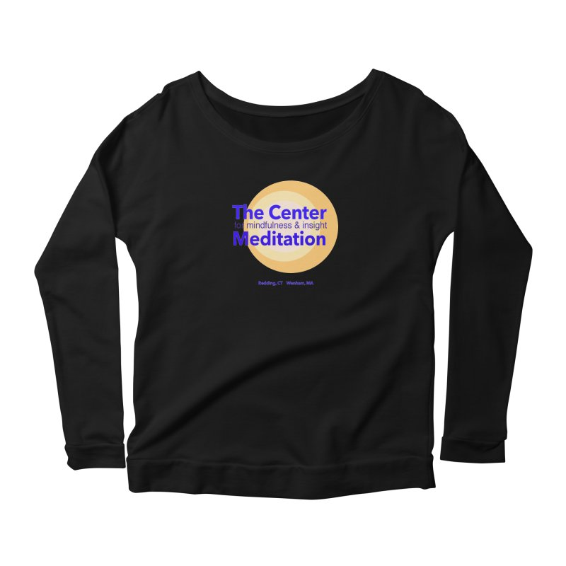Centered Women's Longsleeve Scoopneck  by reddingmeditation's Artist Shop