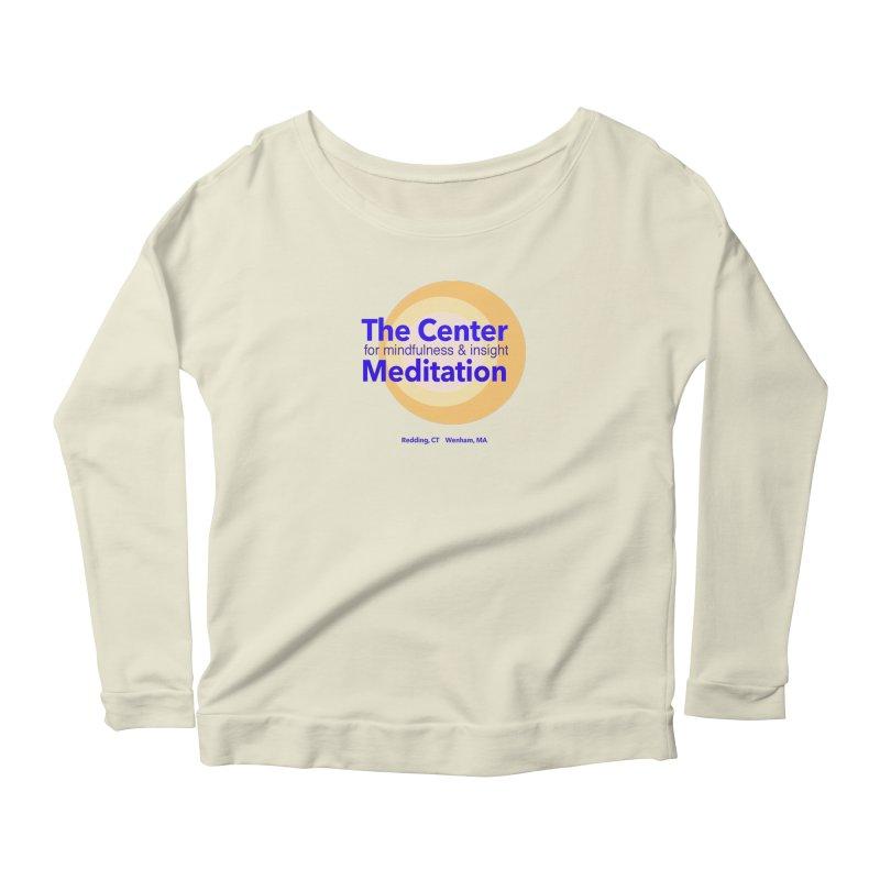 Centered Women's Scoop Neck Longsleeve T-Shirt by reddingmeditation's Artist Shop