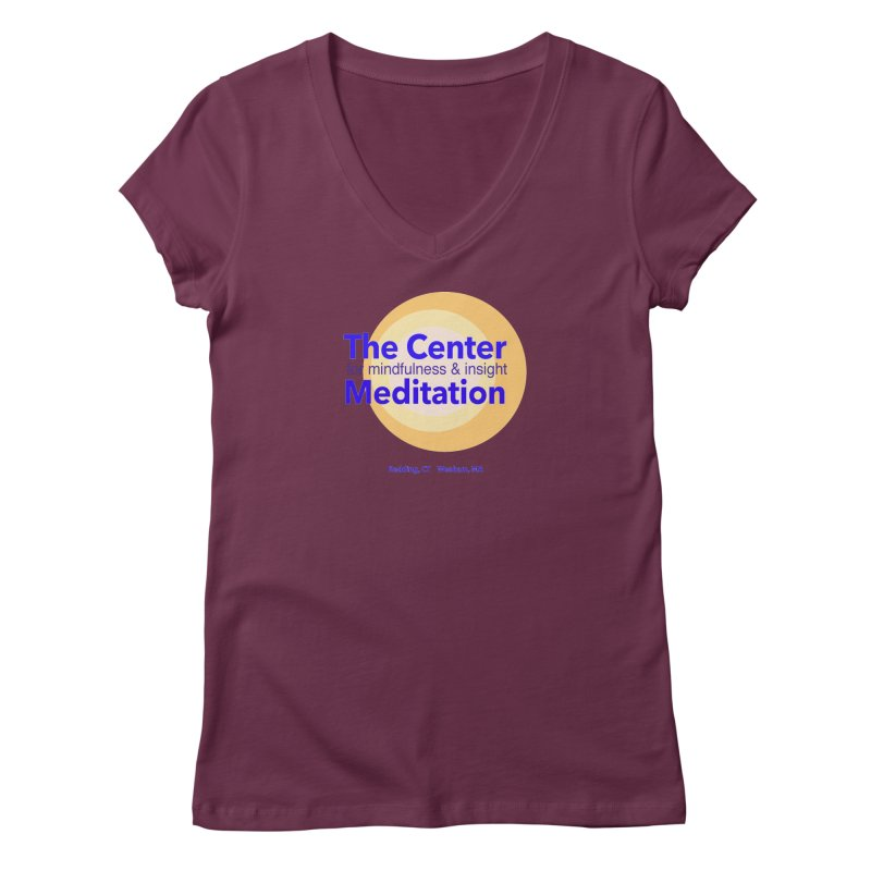 Centered Women's V-Neck by reddingmeditation's Artist Shop