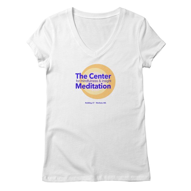Centered Women's Regular V-Neck by reddingmeditation's Artist Shop