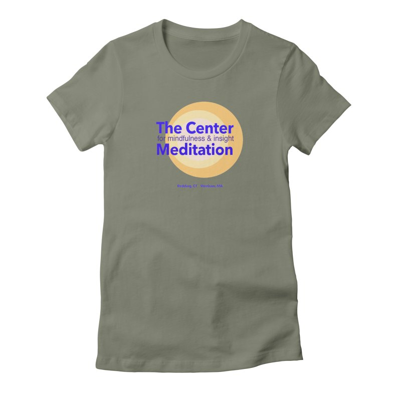 Centered Women's Fitted T-Shirt by Redding Meditation's Artist Shop