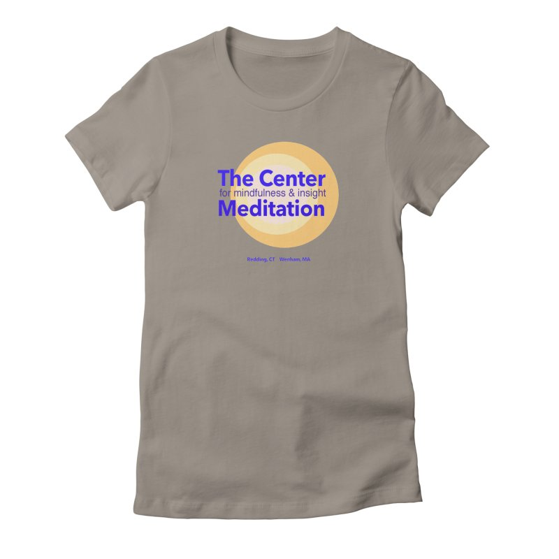 Centered Women's Fitted T-Shirt by reddingmeditation's Artist Shop