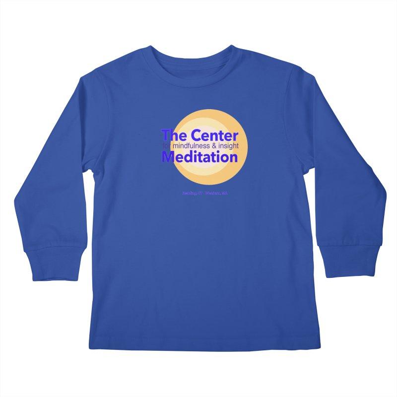 Centered Kids Longsleeve T-Shirt by Redding Meditation's Artist Shop