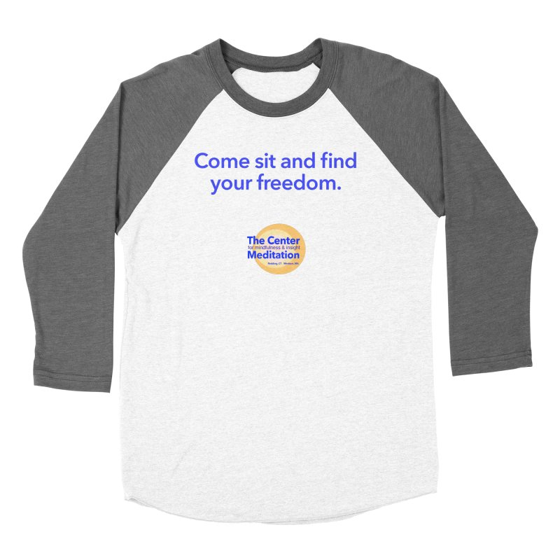 Freedom Men's Baseball Triblend T-Shirt by reddingmeditation's Artist Shop