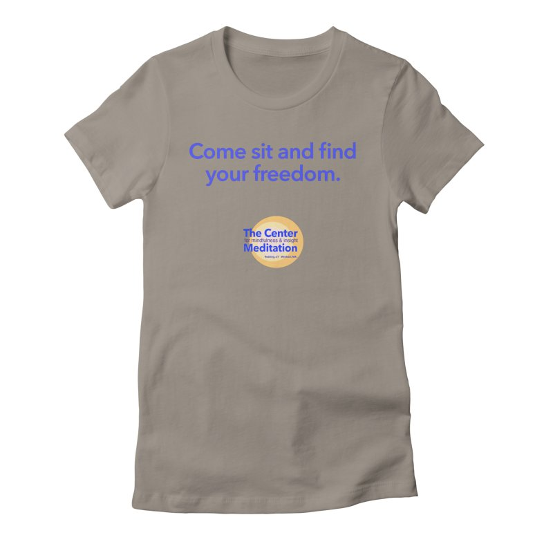 Freedom Women's Fitted T-Shirt by Redding Meditation's Artist Shop