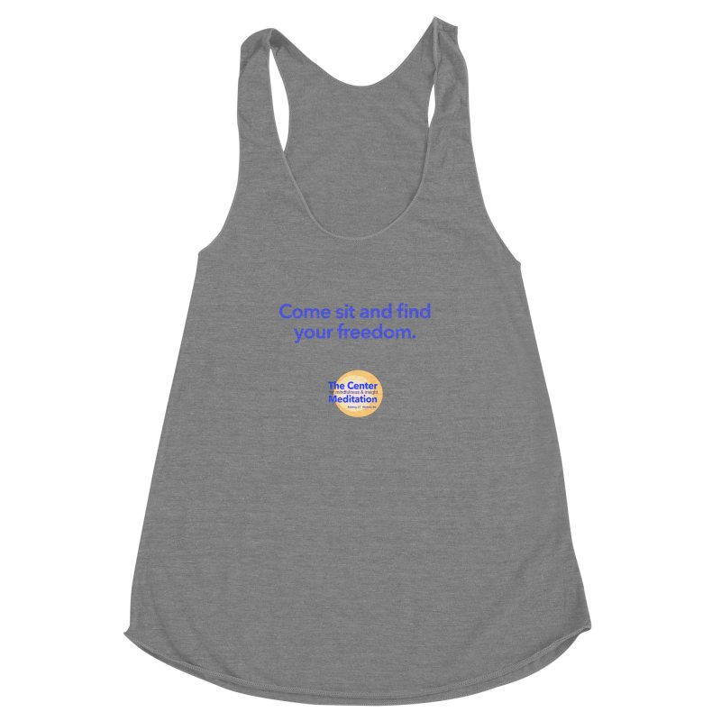 Freedom Women's Racerback Triblend Tank by reddingmeditation's Artist Shop