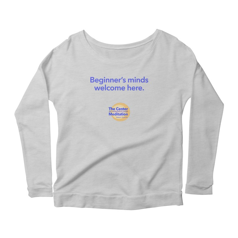 Welcome Women's Longsleeve Scoopneck  by reddingmeditation's Artist Shop