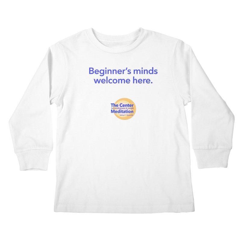 Welcome Kids Longsleeve T-Shirt by Redding Meditation's Artist Shop
