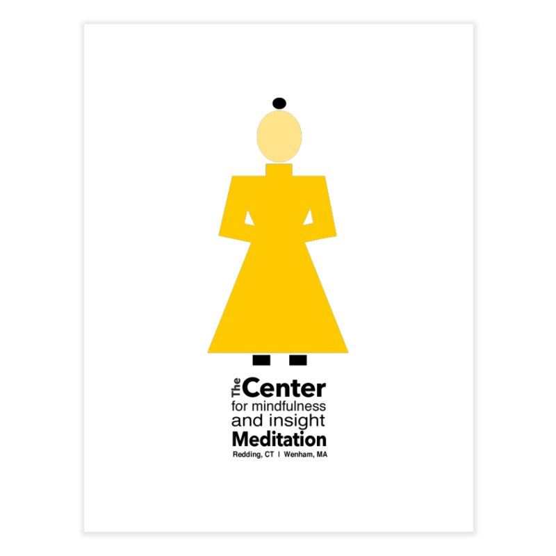 Centered Monk Home Fine Art Print by reddingmeditation's Artist Shop