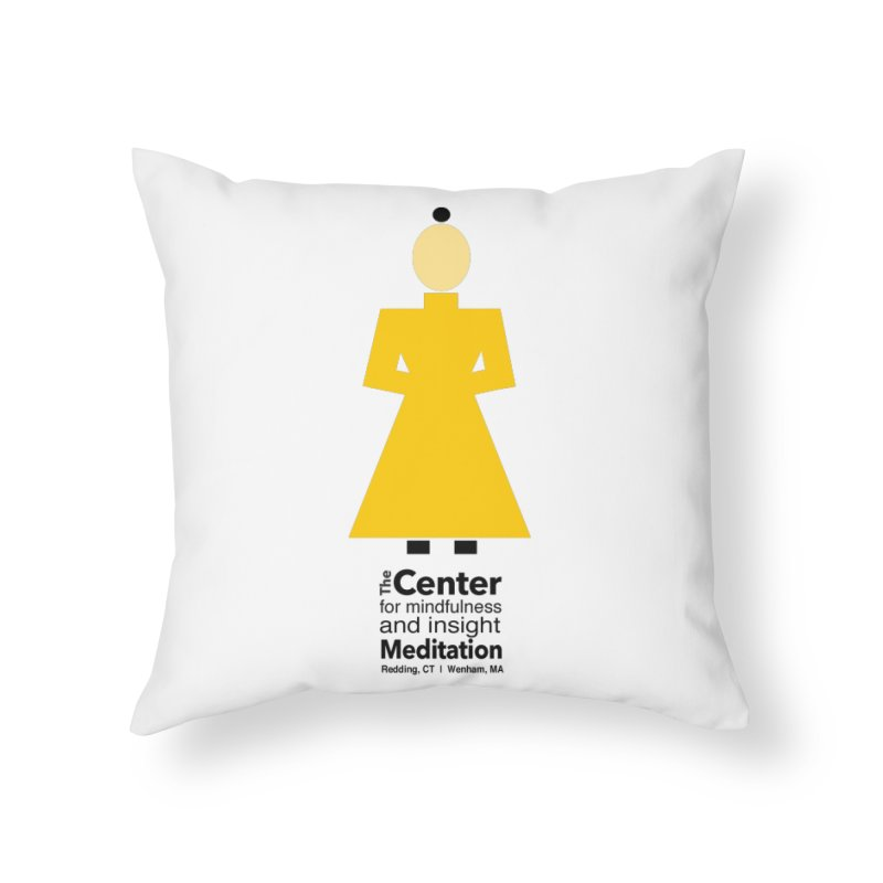 Centered Monk Home Throw Pillow by reddingmeditation's Artist Shop
