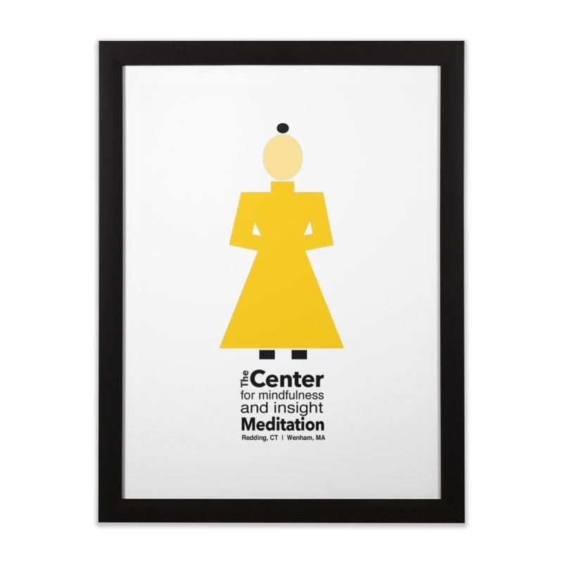 Centered Monk Home Framed Fine Art Print by Redding Meditation's Artist Shop