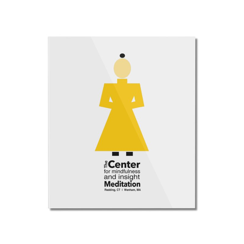 Centered Monk Home Mounted Acrylic Print by reddingmeditation's Artist Shop