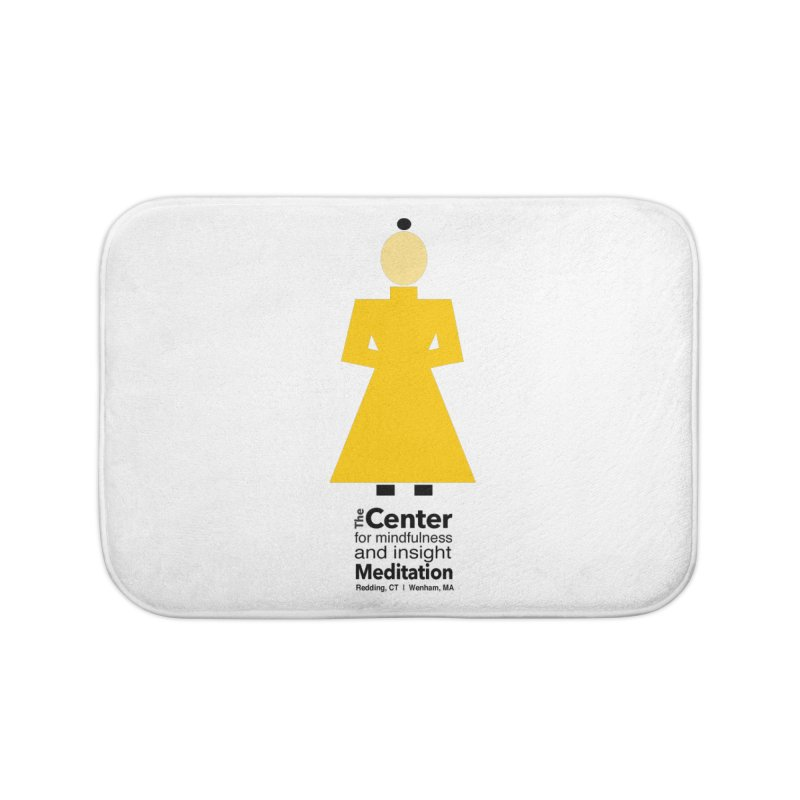 Centered Monk Home Bath Mat by reddingmeditation's Artist Shop
