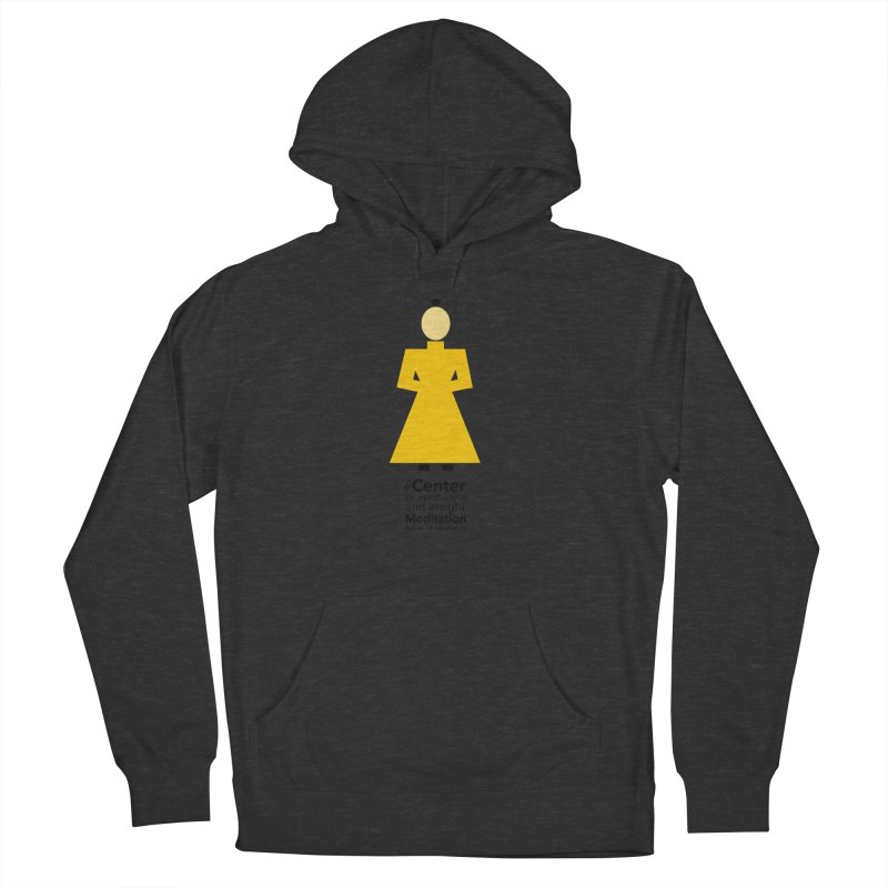 Centered Monk Women's French Terry Pullover Hoody by Redding Meditation's Artist Shop