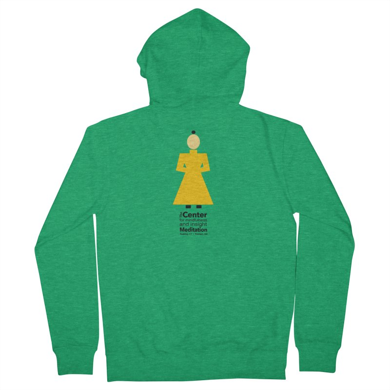 Centered Monk Women's Zip-Up Hoody by reddingmeditation's Artist Shop