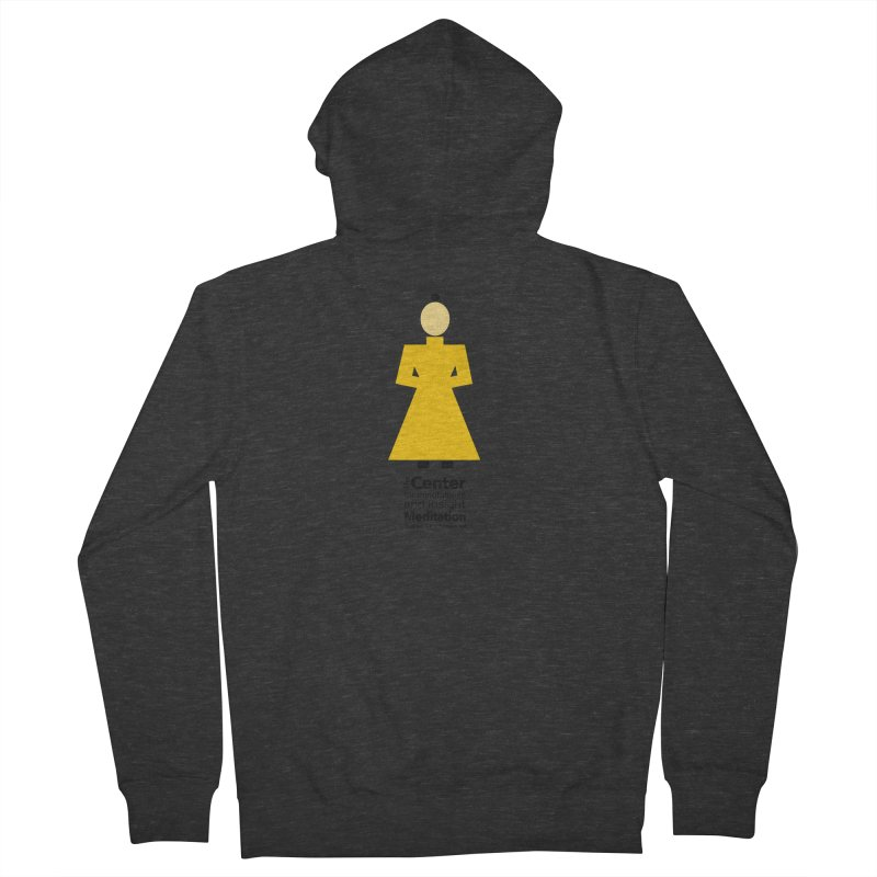 Centered Monk Women's French Terry Zip-Up Hoody by Redding Meditation's Artist Shop