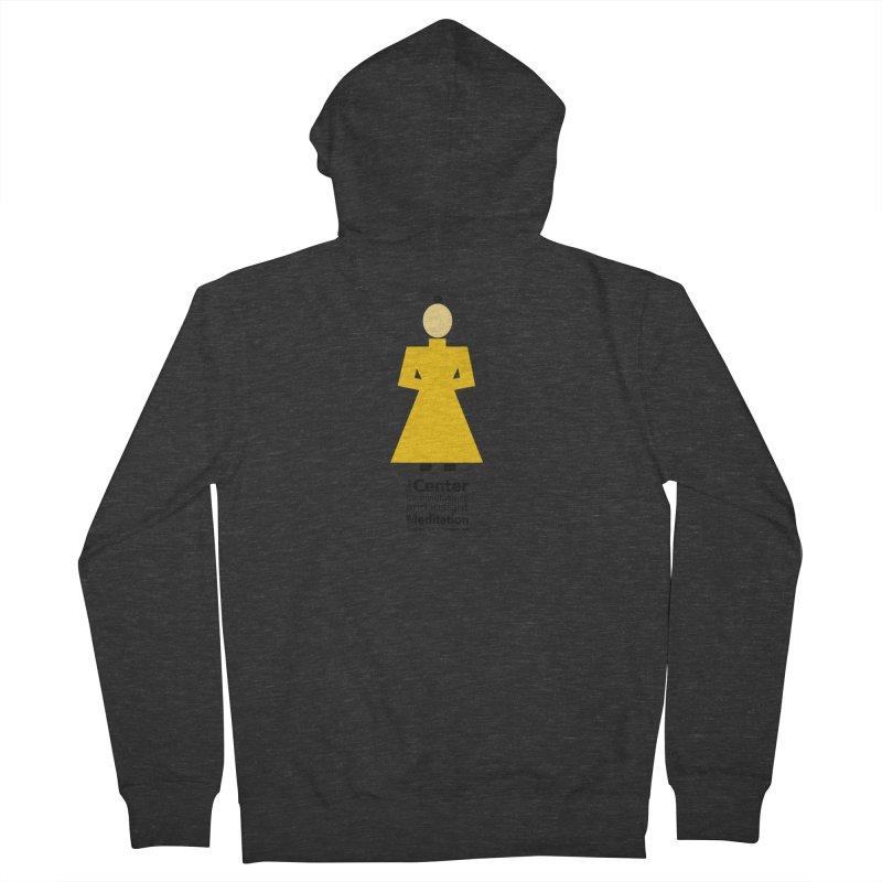 Centered Monk Men's Zip-Up Hoody by reddingmeditation's Artist Shop