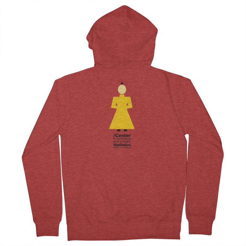 Centered Monk Men's French Terry Zip-Up Hoody by Redding Meditation's Artist Shop