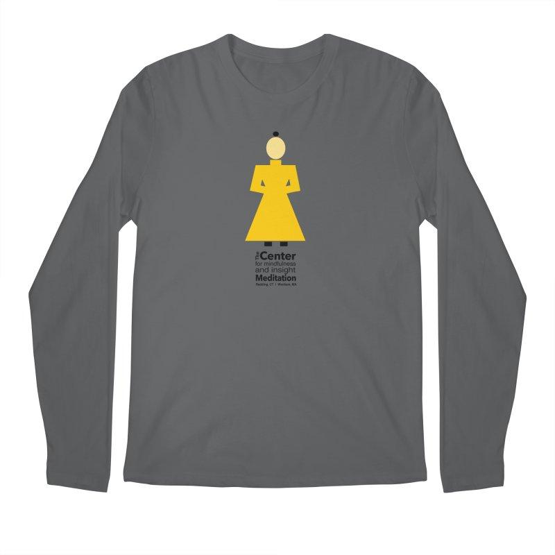 Centered Monk Men's Regular Longsleeve T-Shirt by Redding Meditation's Artist Shop