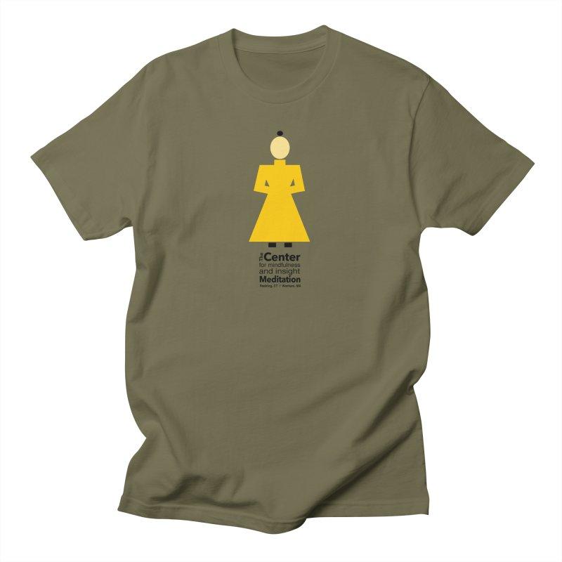 Centered Monk Men's Regular T-Shirt by Redding Meditation's Artist Shop