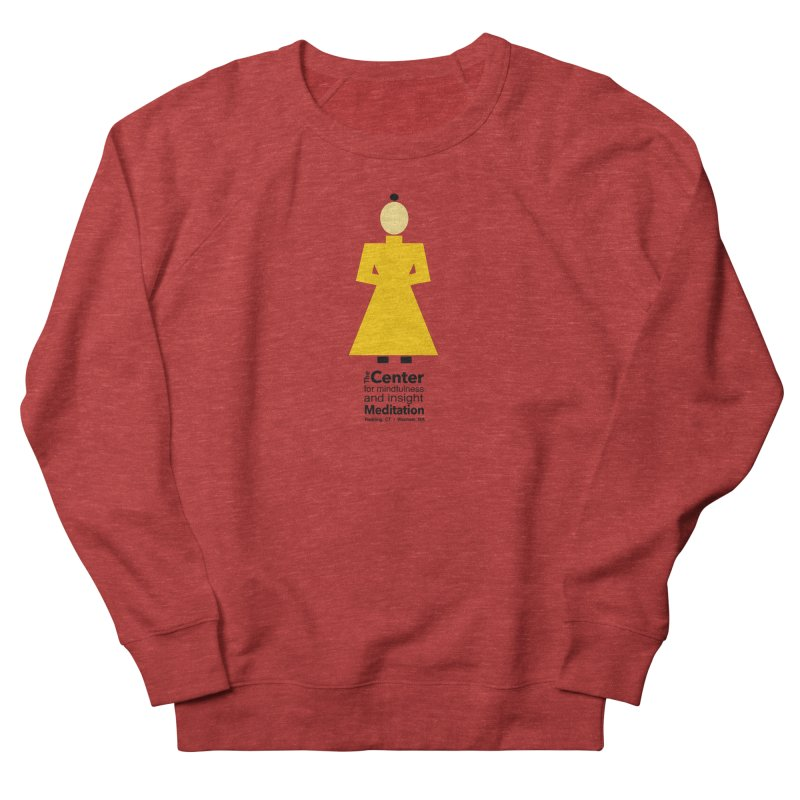 Centered Monk Women's French Terry Sweatshirt by reddingmeditation's Artist Shop