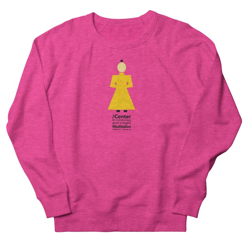 Centered Monk Women's French Terry Sweatshirt by Redding Meditation's Artist Shop