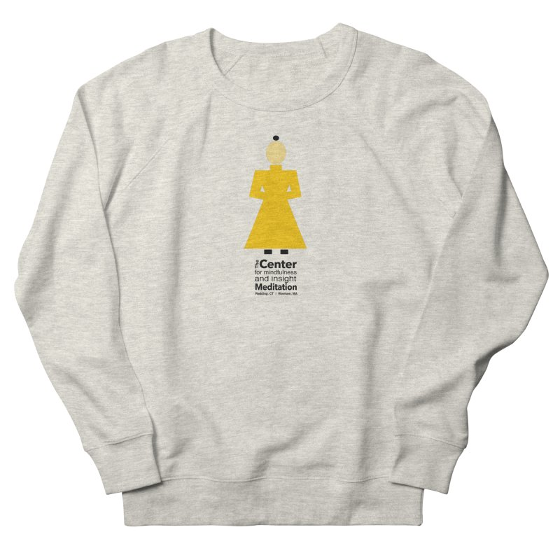 Centered Monk Men's French Terry Sweatshirt by Redding Meditation's Artist Shop