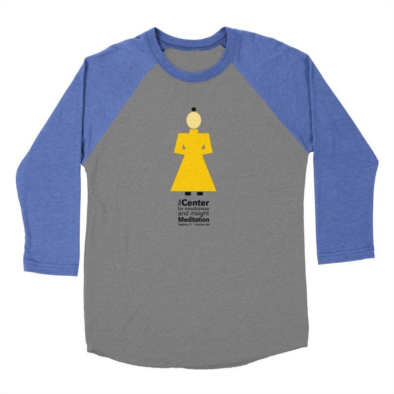 Centered Monk Women's Baseball Triblend T-Shirt by reddingmeditation's Artist Shop
