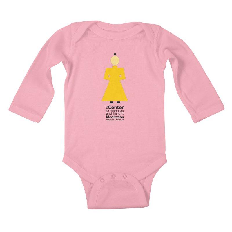 Centered Monk Kids Baby Longsleeve Bodysuit by reddingmeditation's Artist Shop