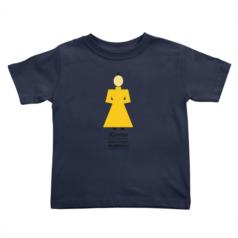 Centered Monk Kids Toddler T-Shirt by reddingmeditation's Artist Shop