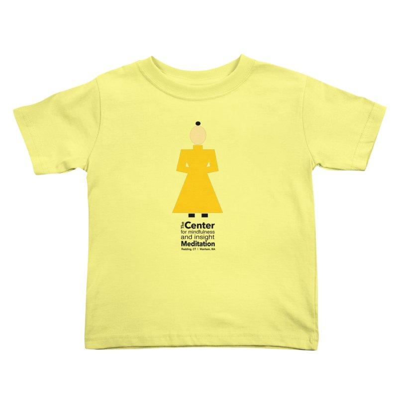 Centered Monk Kids Toddler T-Shirt by Redding Meditation's Artist Shop
