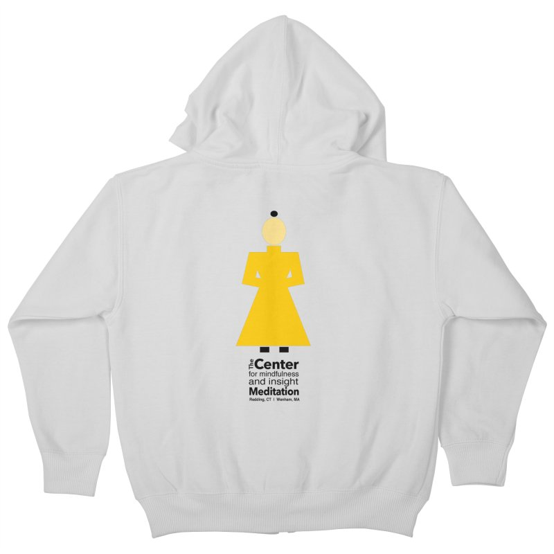 Centered Monk Kids Zip-Up Hoody by reddingmeditation's Artist Shop