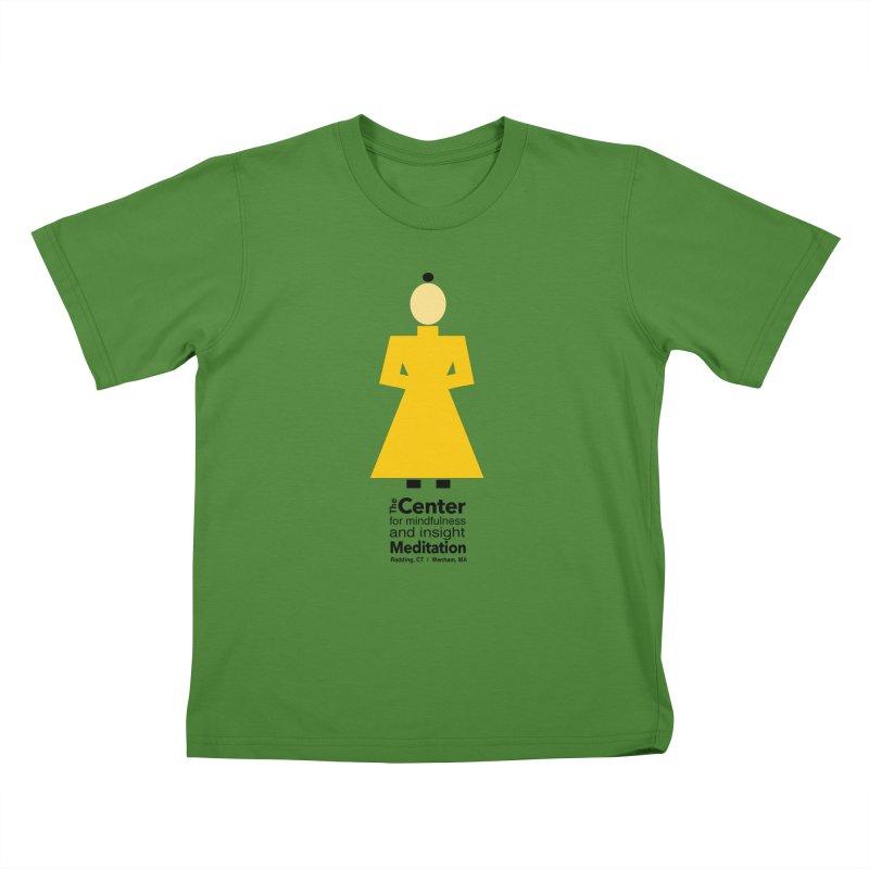 Centered Monk Kids T-Shirt by reddingmeditation's Artist Shop