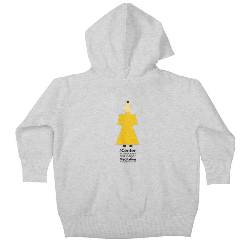 Centered Monk Kids Baby Zip-Up Hoody by reddingmeditation's Artist Shop