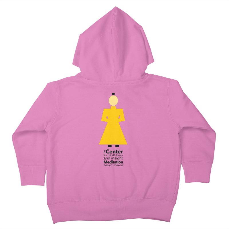 Centered Monk Kids Toddler Zip-Up Hoody by reddingmeditation's Artist Shop