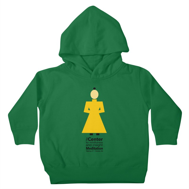 Centered Monk Kids Toddler Pullover Hoody by reddingmeditation's Artist Shop