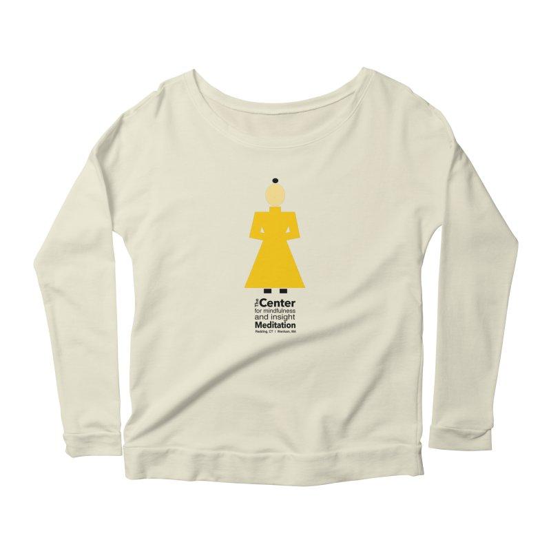 Centered Monk Women's Scoop Neck Longsleeve T-Shirt by reddingmeditation's Artist Shop