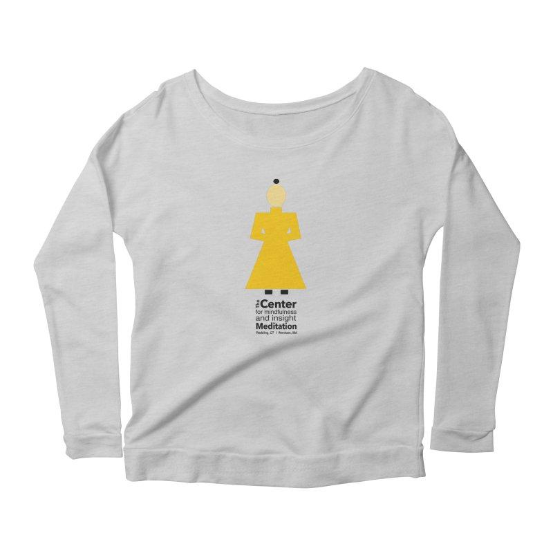 Centered Monk Women's Scoop Neck Longsleeve T-Shirt by Redding Meditation's Artist Shop