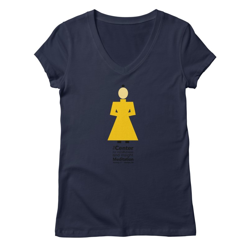 Centered Monk Women's V-Neck by reddingmeditation's Artist Shop